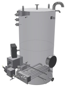 Atmo pressure hot water tank